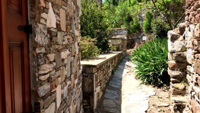 doganbey village streets in turkey - stone wall stock videos and b-roll footage