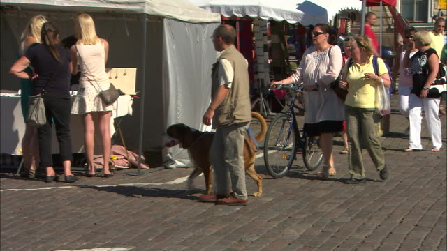 Dogs at the Market, Helsinki, Finland