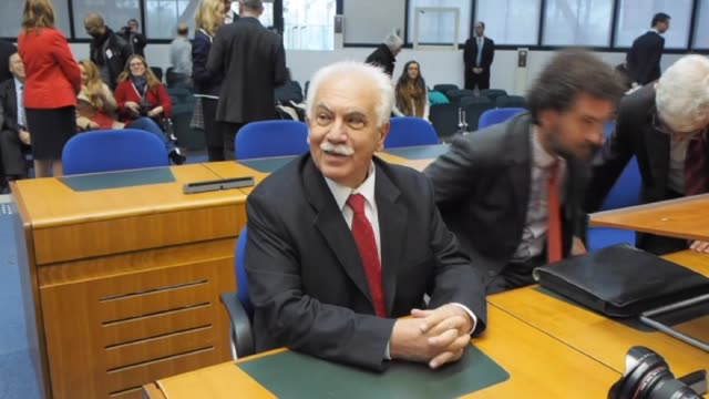 dogu perincek, chairman of the turkish patriotic party is seen in the european court of human rights in strasbourg, france on october 15, 2015. the... - last stock videos & royalty-free footage