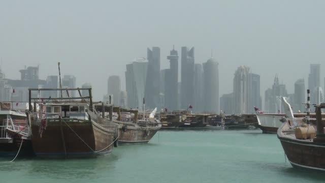 doha and its neighbours have been embroiled in a crisis for over a month as saudi arabia bahrain the united arab emirates and egypt accuse qatar of... - doha stock videos & royalty-free footage