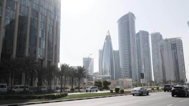 doha, qatar downtown - doha stock videos & royalty-free footage
