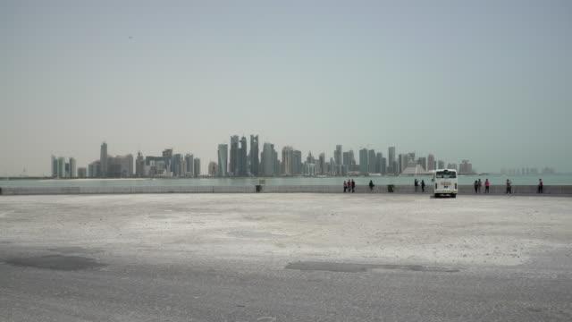 doha skyline - doha stock videos & royalty-free footage