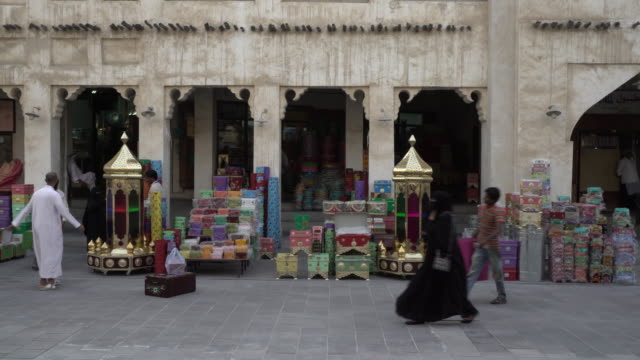 doha suq - qatar stock videos & royalty-free footage