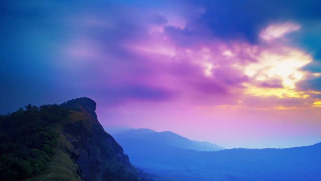 Doi Mo jong Mountain während dem Sonnenuntergang, Chiang mai, Thailand