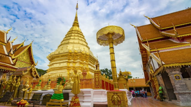 Doi Suthep Temple Time lapse in Chiang mai Thailand.
