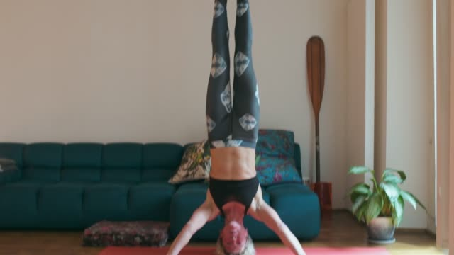 Doing headstand