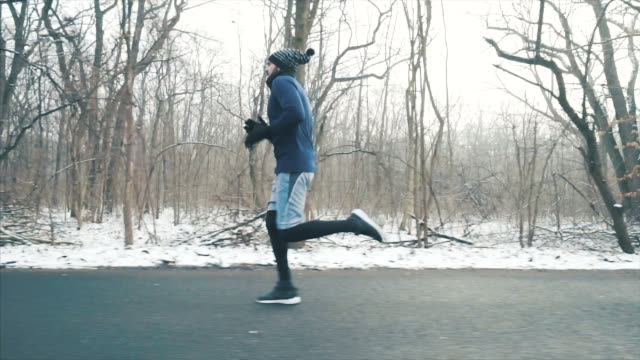 doing my daily training in winter season. - full length stock videos & royalty-free footage