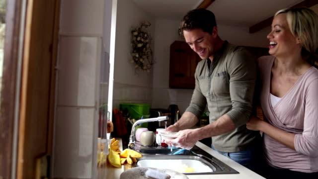 doing the dishes - tidy room stock videos & royalty-free footage