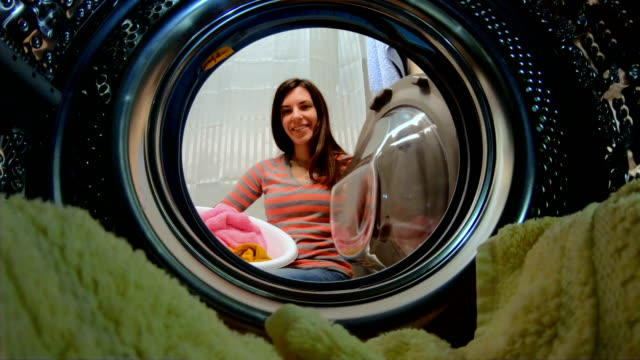 doing the laundry - laundry stock videos & royalty-free footage