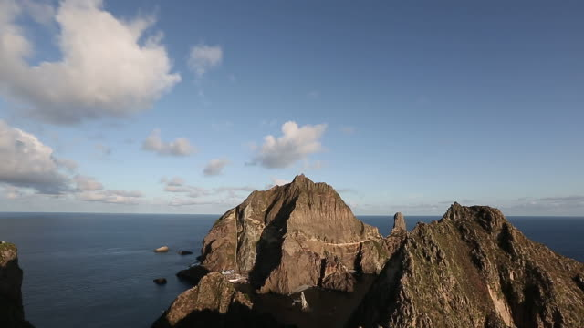 dokdo island (dokdo is korean islets located to east of korean peninsula-popular destination) - north gyeongsang province stock videos and b-roll footage