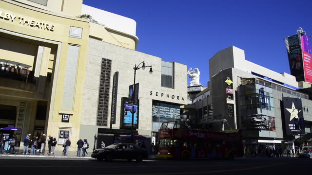 dolby theatre in hollywood - academy of motion picture arts and sciences stock videos and b-roll footage