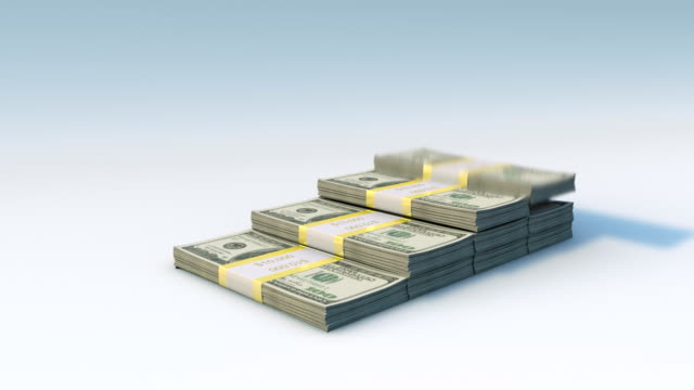 dollar bill bars falling, graph rising - refund stock videos & royalty-free footage