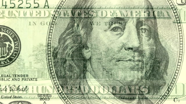 usa 100 dollar bill composite - benjamin franklin stock videos & royalty-free footage