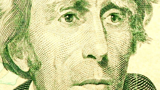 $20 dollar bill currency of the united states of america - twenty us dollar note stock videos & royalty-free footage