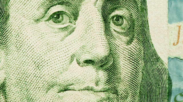 $100 dollar bill currency of the united states of america - benjamin franklin stock videos & royalty-free footage
