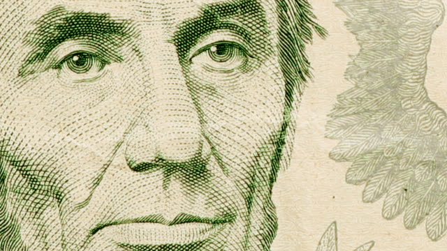 $5 dollar bill currency of the united states of america - number 5 stock videos & royalty-free footage