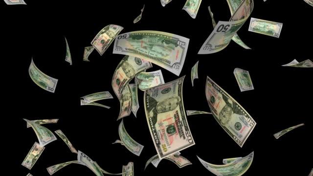 $50 dollar bills #1 + alpha hd - banknote stock videos and b-roll footage