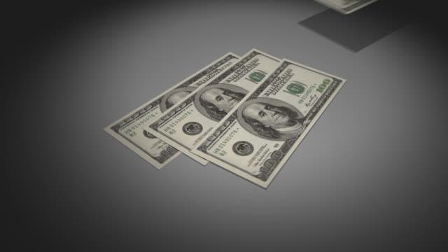 $100 ドル紙幣、お金、現金 - 美術工芸品点の映像素材/bロール