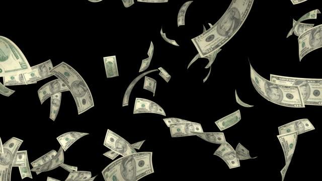 $banconote da 10 dollari#2 hd - banconota da 10 dollari statunitensi video stock e b–roll