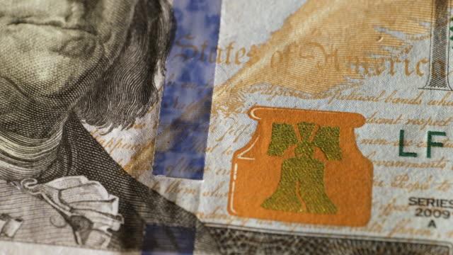 dollar bills of different denominations - fünf gegenstände stock-videos und b-roll-filmmaterial