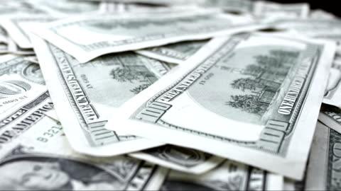 dollar bills rotating - lottery stock videos & royalty-free footage