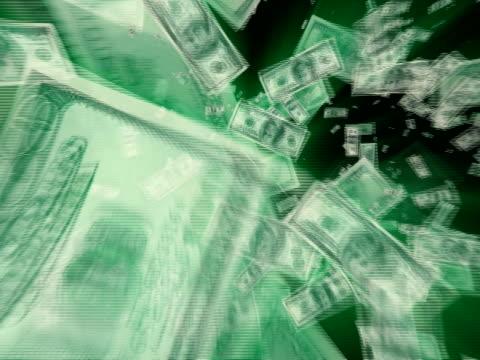 $100 ドル紙幣渦 pal - ベンジャミン・フランクリン点の映像素材/bロール