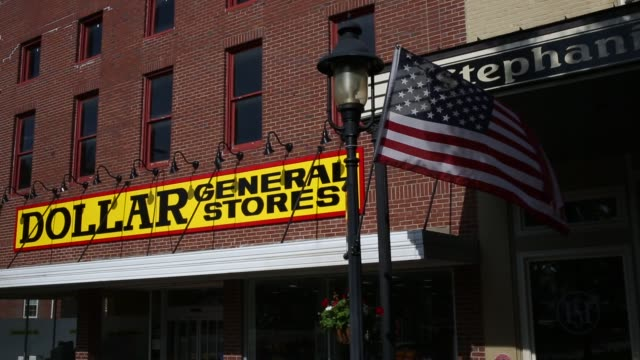 a dollar general corp retail store stands in scottsville kentucky us on tuesday may 26 2015 dollar generals next quarterly earnings are due out on... - brick stock videos & royalty-free footage
