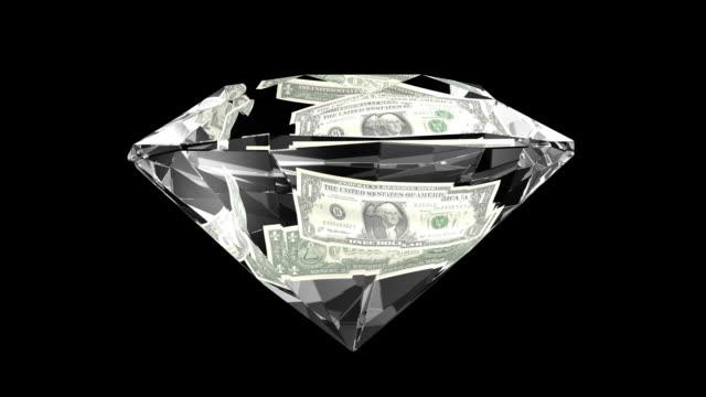 dollar gw diamond1  hd - stone object stock videos & royalty-free footage