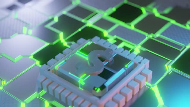 dollar icon circuit board animation background - electronic organiser stock videos & royalty-free footage