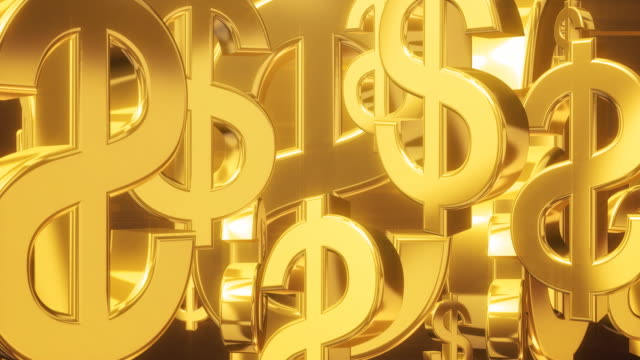 dollar roll gold - dollar symbol stock videos and b-roll footage