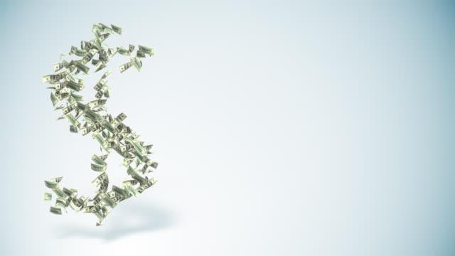 vídeos de stock, filmes e b-roll de símbolo do dólar-espaço para texto - fazer dinheiro