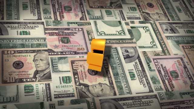 dollar symbol explodes - everything must be sold stock videos & royalty-free footage