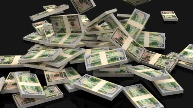 stockvideo's en b-roll-footage met dollar - stapelen