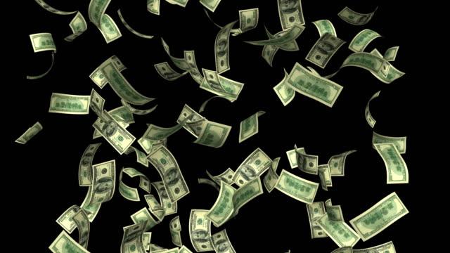 dollars currency rain loop 4k - making money stock videos & royalty-free footage