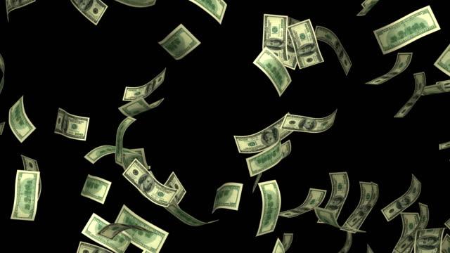dollar währung regenschleife 4k - motion design stock-videos und b-roll-filmmaterial