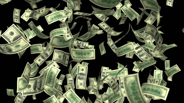 dollars rain loop 4k - dollarsymbol stock-videos und b-roll-filmmaterial