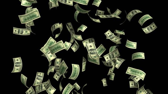dollars rain loop 4k - motion graphics stock videos & royalty-free footage