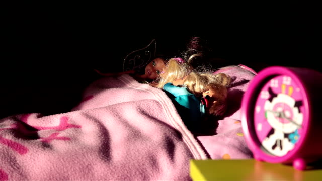 hd: dolls in bed - time lapse - sports period stock videos & royalty-free footage