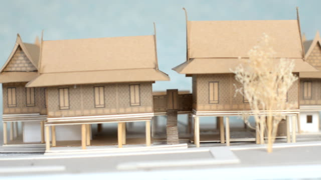 dolly back view : thai architecture - model kit stock videos and b-roll footage