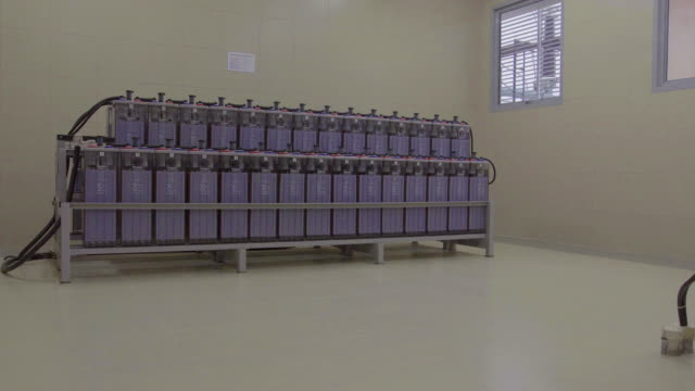 dolly: battery in the power station room. - storage compartment stock videos and b-roll footage