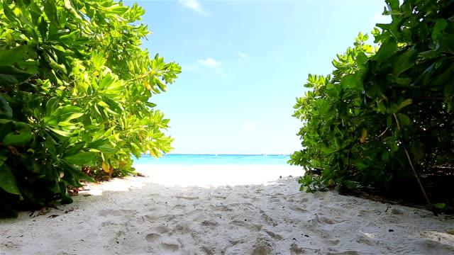 HD Dolly: Beach and sky in island Tachai.