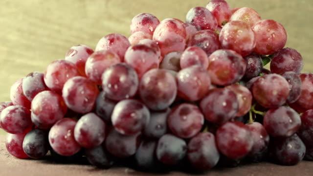 vidéos et rushes de raisins de caméra: rouge dolly - raisin noir