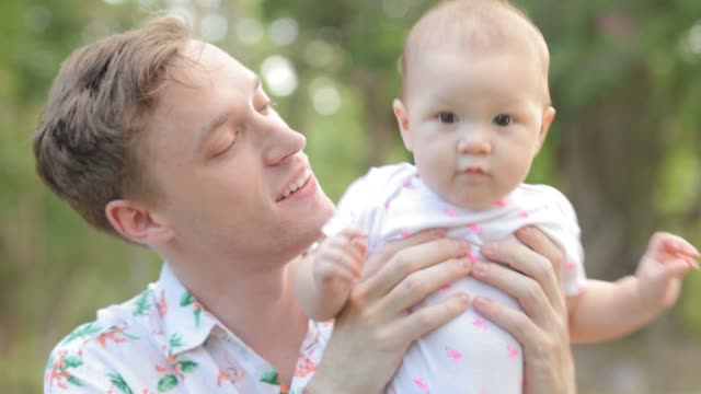 hd dolly: father and daughter - genderblend stock videos & royalty-free footage