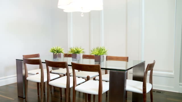 hd dolly: modern dining room - dining room stock videos & royalty-free footage