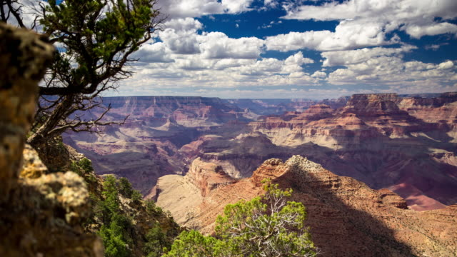 vídeos de stock e filmes b-roll de dolly mounted time lapse shot of the grand canyon - grand canyon national park