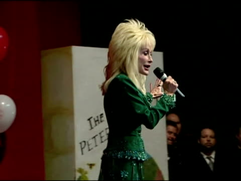 dolly parton announces the start of the imagination library, a children's literacy scheme, in the uk - library stock videos & royalty-free footage