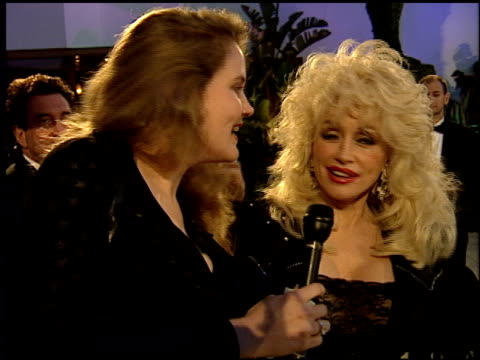 Dolly Parton at the 1995 Academy Awards Morton Party at Morton's in West Hollywood California on March 27 1995