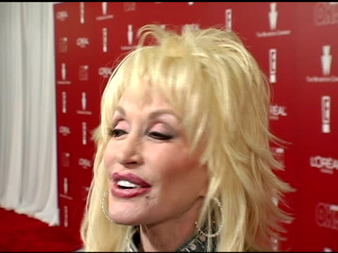 dolly parton on her song being nominated for an oscar seeing celebrities and on why she chose to go to the weinstein party at the 2006 weinstein... - pre party stock videos and b-roll footage