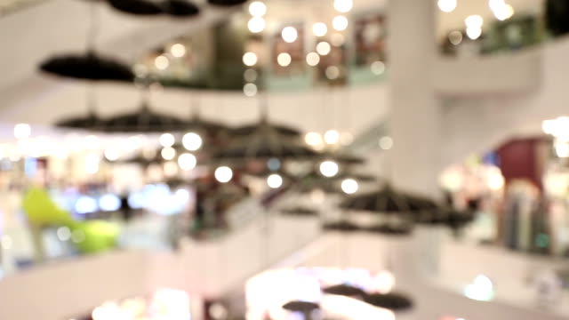 dolly shot: Abstract blurred background of Shopping mall pedestrian