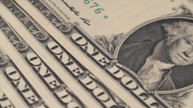 Dolly shot across US Dollars